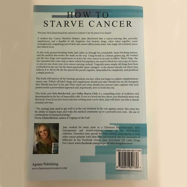 How to Starve Cancer without starving yourself by Jane McClelland - Back Cover